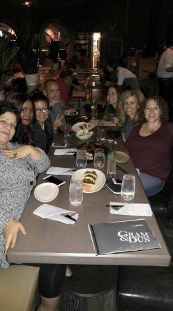 Susan Lee once again organized an amazing dinner! Amy DiMartino, Anya Justanya, Susan Lee, Rick R. Reed, Heather Kobos, and Lane Hayes