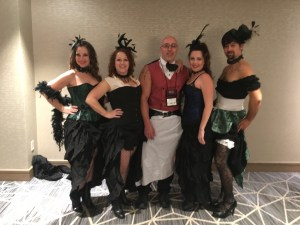 Saloon girls at the costume party