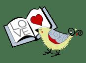 bird reading logo