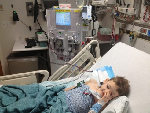 During one of Presto's many dialysis treatments.