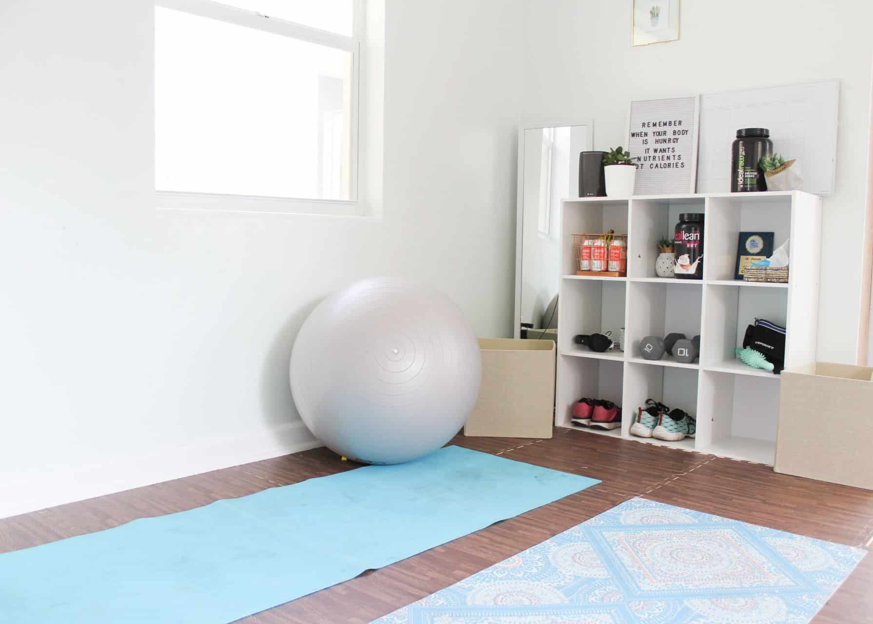 My Home Gym + Play Space On A Budget
