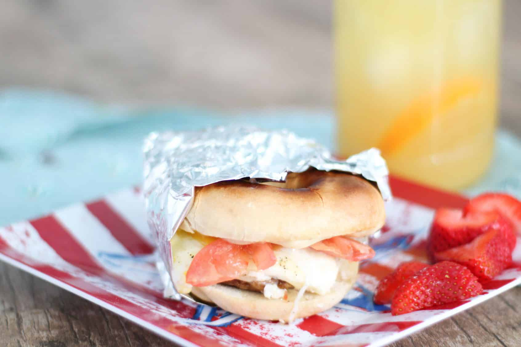The Best Bagel Breakfast Sandwich To Take To The Beach