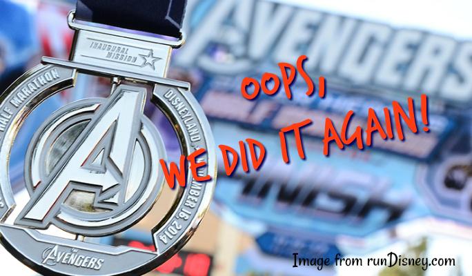 Super Heroes Half Marathon: Oops, we did it again!