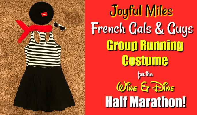 French Gals & Guys Group Running Costume: Wine & Dine Half Marathon!