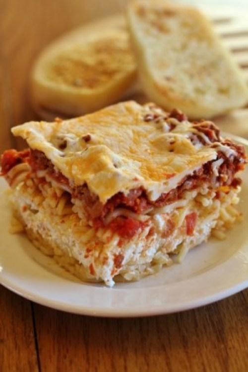 Million Dollar Spaggetti casserole on Plate