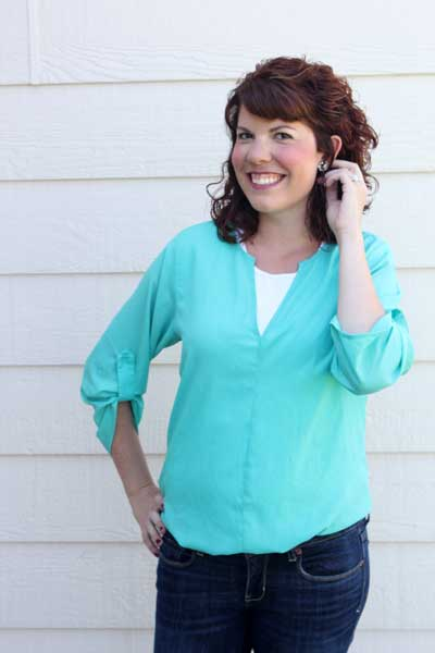19 Cooper Clemency Solid Tab-Sleeve Tunic