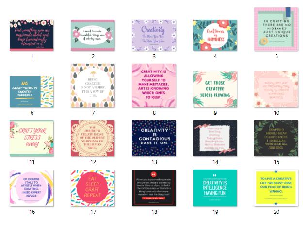 http://joyfulsource.com/20-inspiring-crafts-creativity-quotes/