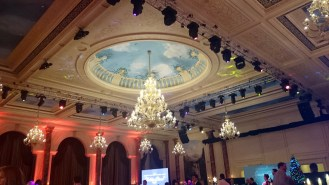 The ceiling of the banquet hall.....