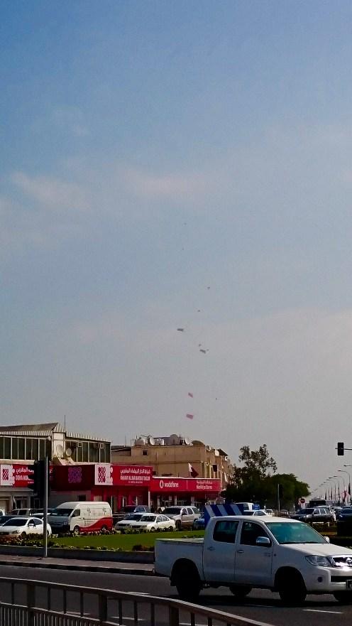 Parachuters with the Qatar Flag!!!