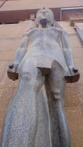 One of the statues at the entrance.