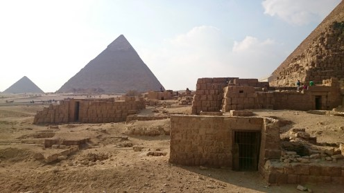 One of the many mastabas and rock carved tombs along the base of the Great Pyramid.