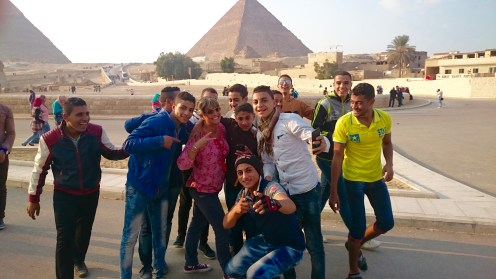 I, literally, was swarmed by a group of Egyptian teenage boys wanting selfies with me!!