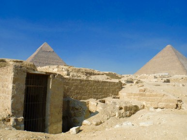 Walking through the mastabas and the rock cut tombs