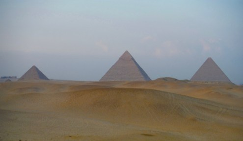 Giza Pyramids at Sunset....