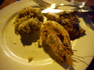 Rice, prawn and chicken