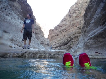 Time to get our sneakers wet...because the only way through is to swim!!!