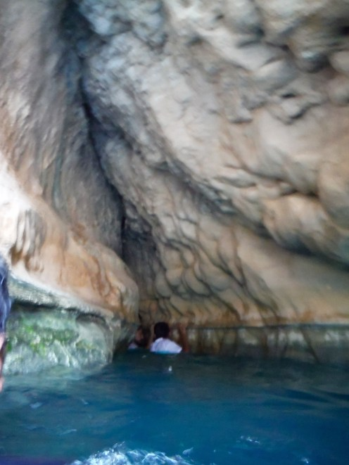 The way into the cave...