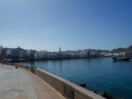 Walking along the Muscat Corniche