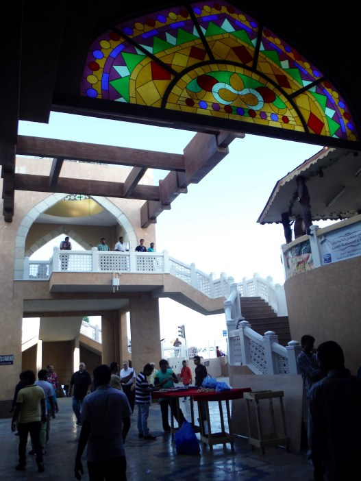 Looking back at the steps that brought us to the mouth of the souq.