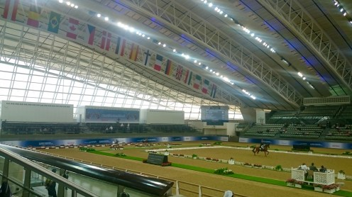 Indoor arena to the left - can you find the Canadian flag? Notice anything??