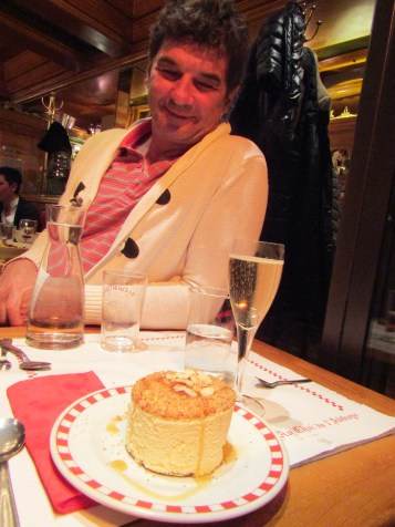 Souffle with Grand Marnier and a glass of champagne!!!