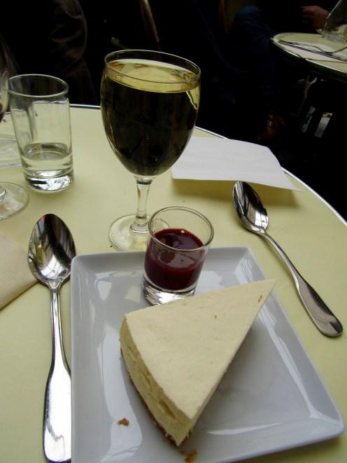 Cheesecake and a class of chardonnay!!!