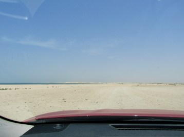 This is the road, we think, to the beach....