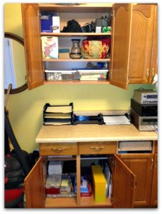 organized paperwork area