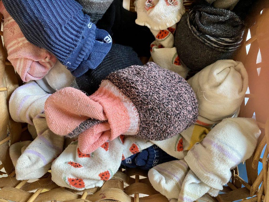 socks in a pile