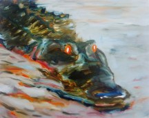Croc (Night Vision), 2012, oil/canvas, 16x20 inches