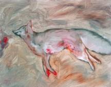 Dead Fox, 2012, oil/canvas, 16x20 inches