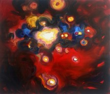 Exchange of Fire, 2013, oil/canvas, 38x44 inches
