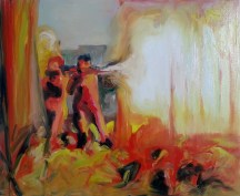 Fire Breathers, 2013, oil/canvas, 26x32 inches