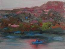 Skiff, 2013, oil/canvas, 12x16 inches
