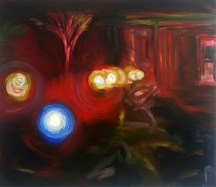 Standoff, 2013, oil/canvas, 38x44 inches