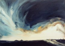 Strange Weather (34), 2006, oil/canvas, 20x26 inches: Storm's Coming Six authors get personal about climate change BY GRETEL EHRLICH, JARED DUVAL, JAY GRIFFITHS, PETER SAWTELL, PICO IYER, AND CARL SAFINA Published in the September/October 2008 issue of Orion magazine