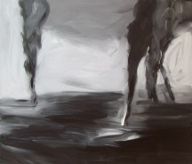 Untitled (oil wells), 2008, oil/canvas, 38x44 inches: Storm's Coming Six authors get personal about climate change BY GRETEL EHRLICH, JARED DUVAL, JAY GRIFFITHS, PETER SAWTELL, PICO IYER, AND CARL SAFINA Published in the September/October 2008 issue of Orion magazine