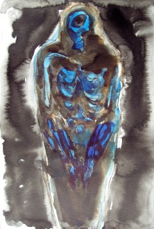 Mummy Scan, 2007, ink on paper 15 x 10 inches