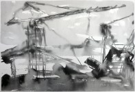 TGP2-03 River 2 (2008) Sumi ink on paper. 18 x 24 inches 21 x 26 inches framed