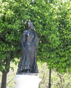 Statue of Carmen outside of bullring she helped make famous.