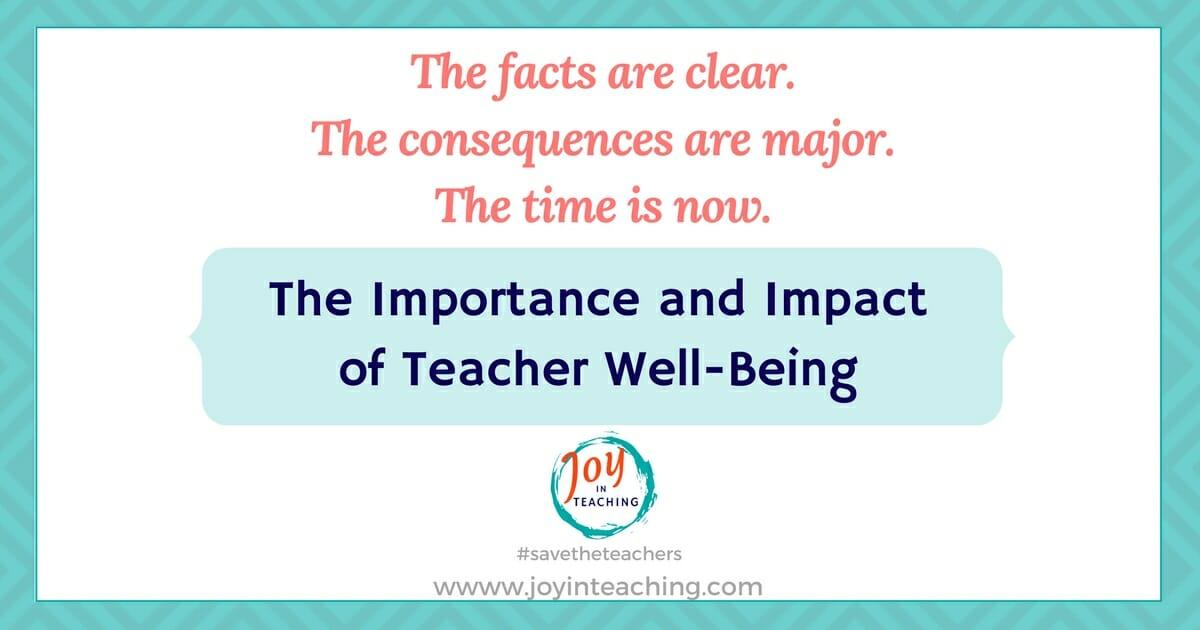 importance of being a teacher
