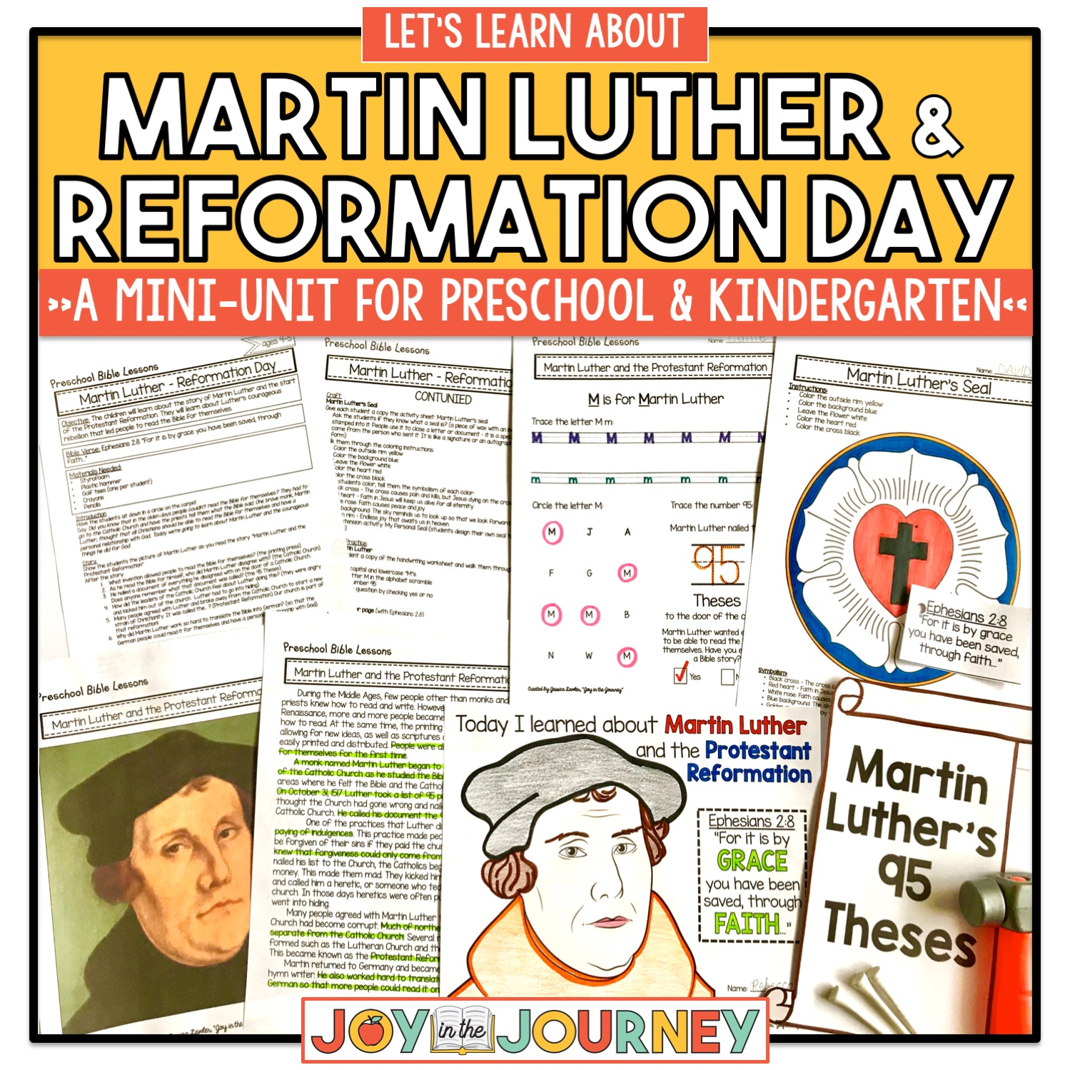 Martin Luther And Reformation Day For Preschool And