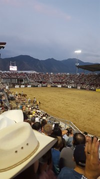 I loved the view of the mountains from the arena
