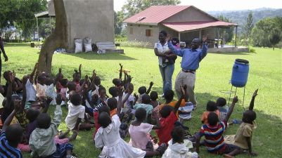 Ministry to the community around MTC. We expected 50 children. 200 came!
