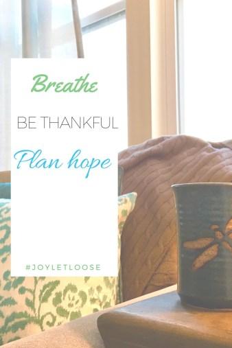 Breathe, Be Thankful, Plan Hope