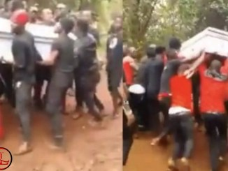 Drama As Corpse Refuses To Get Buried As Pallbearers Struggle To Lay Her In The Pit- VIDEO