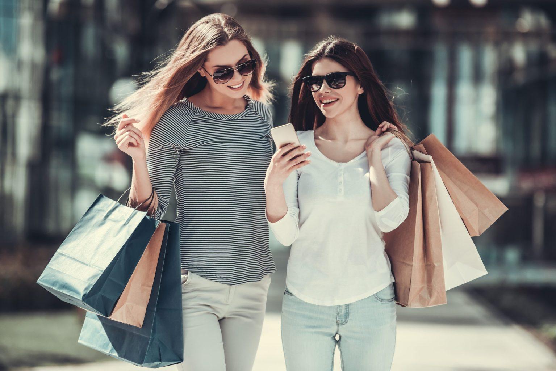 Shopping avec smartphone