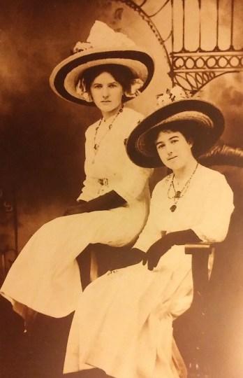 Sisters Georgia Goff and Leora (Goff) Wilson