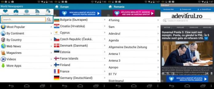 Worlds Newspapers Android