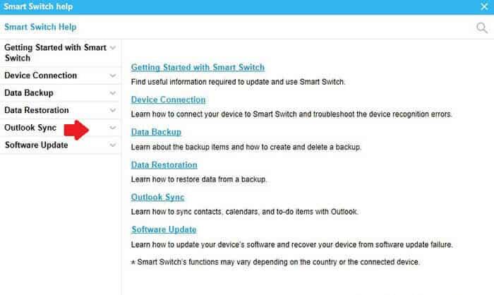 Smart Switch Help UI